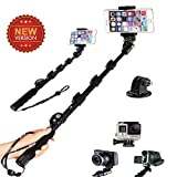 Mifine Aluminum Selfie Stick Waterproof Monopod for Gopro, Cameras and Cellphones, with Bluetooth Remote, iOS and Android Compatible