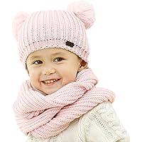FURTALK Kids Winter Hat Pom Beanie Knit Skull Cap Hats for Children Baby Boys Girls Toddler 1-6 Years
