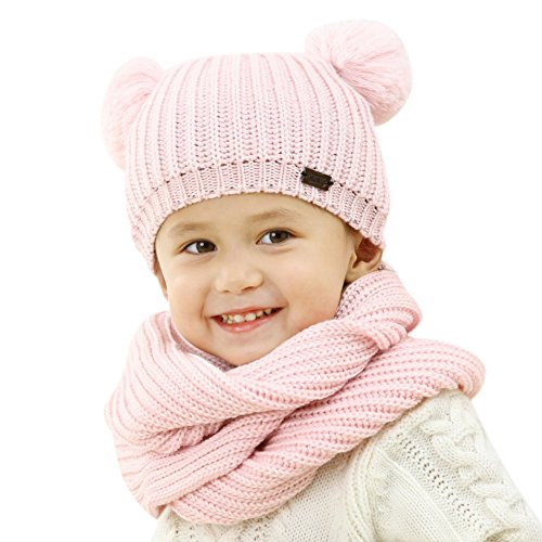 - FURTALK Kids Winter Pom Pom Hat -Warm Beanie Knit Hats Scarf Set for Baby Boys Girls Toddler (Age 1-5 Years)