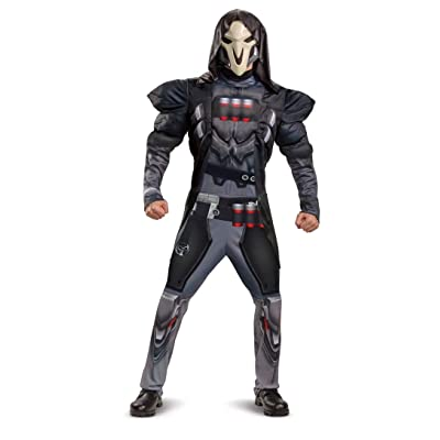 Disguise Overwatch Reaper Boys Costume Size Medium 8/10 Black: Clothing