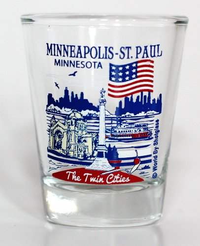 Minneapolis-St.Paul Minnesota Great American Cities Collection Shot - Minneapolis Glasses