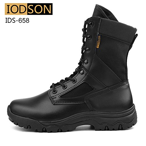 89f5d76f828 IODSON US New Military Athletic Tactical Comfort Leather Boots Mens ...