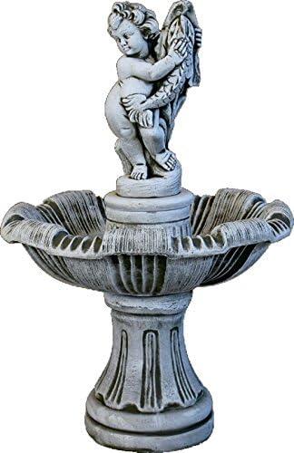 DEGARDEN AnaParra Fuente Roma de hormigón-Piedra Central para Jardín o Exterior Hecha de hormigón-Piedra Artificial | Fuente de Agua Medidas 62X110cm. | Fuente de Jardín Central, Color Ceniza: Amazon.es: Jardín