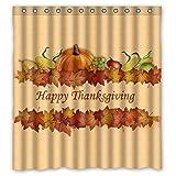 Family Decor Happy Thanksgiving day Harvest Festival Shower Curtain Liner Bathroom Decor 72' x 72'