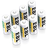 EBL N Size Batteries, N Rechargeable Battery 600mAh Ni-MH LR1 E90 MN9100 AM5 Battery for Clock, LED Lights, Toys and Electronic Devices, Pack of 8