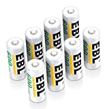 EBL E90/LR1/AM5/MN9100 N Size Batteries, N Rechargeable Battery 600mAh Ni-MH for Clock, LED Lights, Toys and Electronic Devices, Pack of 8