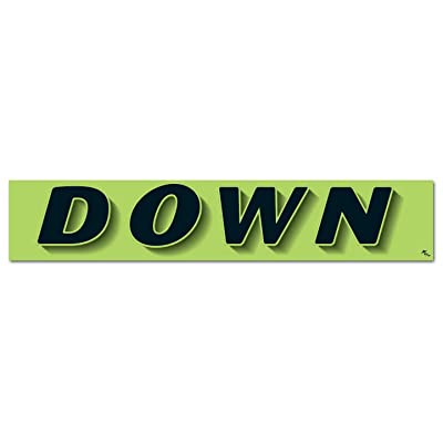 """Donkey Auto Products Vinyl Highlights Windshield Slogans Window Stickers (Black Text On Fluorescent Green) (14-1/2"""" x 2-3/4"""") (12 per Pack) (Down): Automotive"""