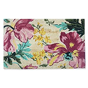 "A1 HOME COLLECTIONS A1HC First Impression Coir 24""x36"" Engineered Anti-Shred Bleach Botanical Doormat(PT2003)"