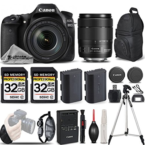 Canon-EOS-80D-Wi-Fi-Full-HD-1080P-Digital-SLR-Camera-Canon-18-135mm-IS-USM-Lens-64GB-Storage-All-Original-Accessories-Included-International-Version