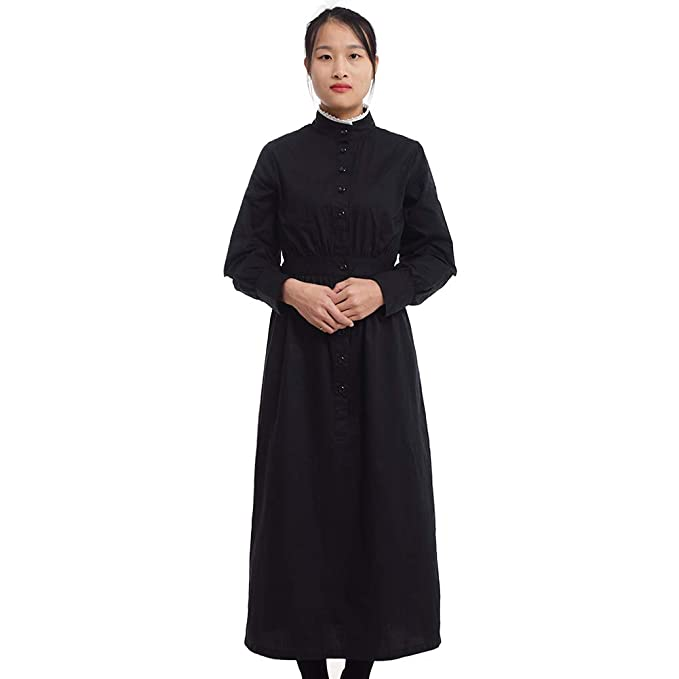 1880s Fashion Dresses, Clothing, Costumes GRACEART Pioneer Women Costume Prairie Dress 100% Cotton $39.00 AT vintagedancer.com