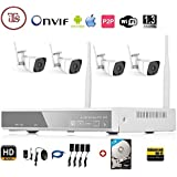 ITS Wireless 4Ch HD 1080P NVR 4 WiFi 1.3MP Camera Kit 2017