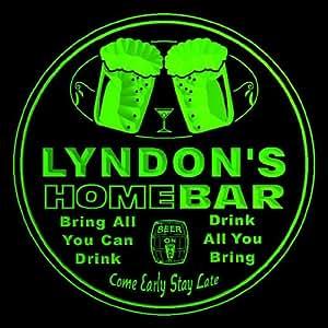 4x ccp0999-g personalizada de Lyndon Home Bar cerveza Copa 3d posavasos