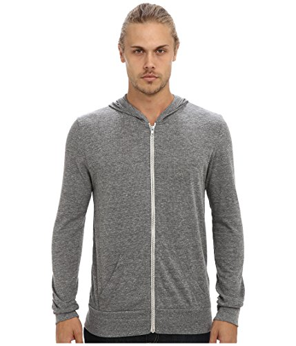 Alternative Unisex Eco L/s Zip up Hoodie (Eco-grey, Small)