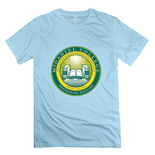 Leberts Cool McDaniel College T-Shirt For Men SkyBlue Size XS