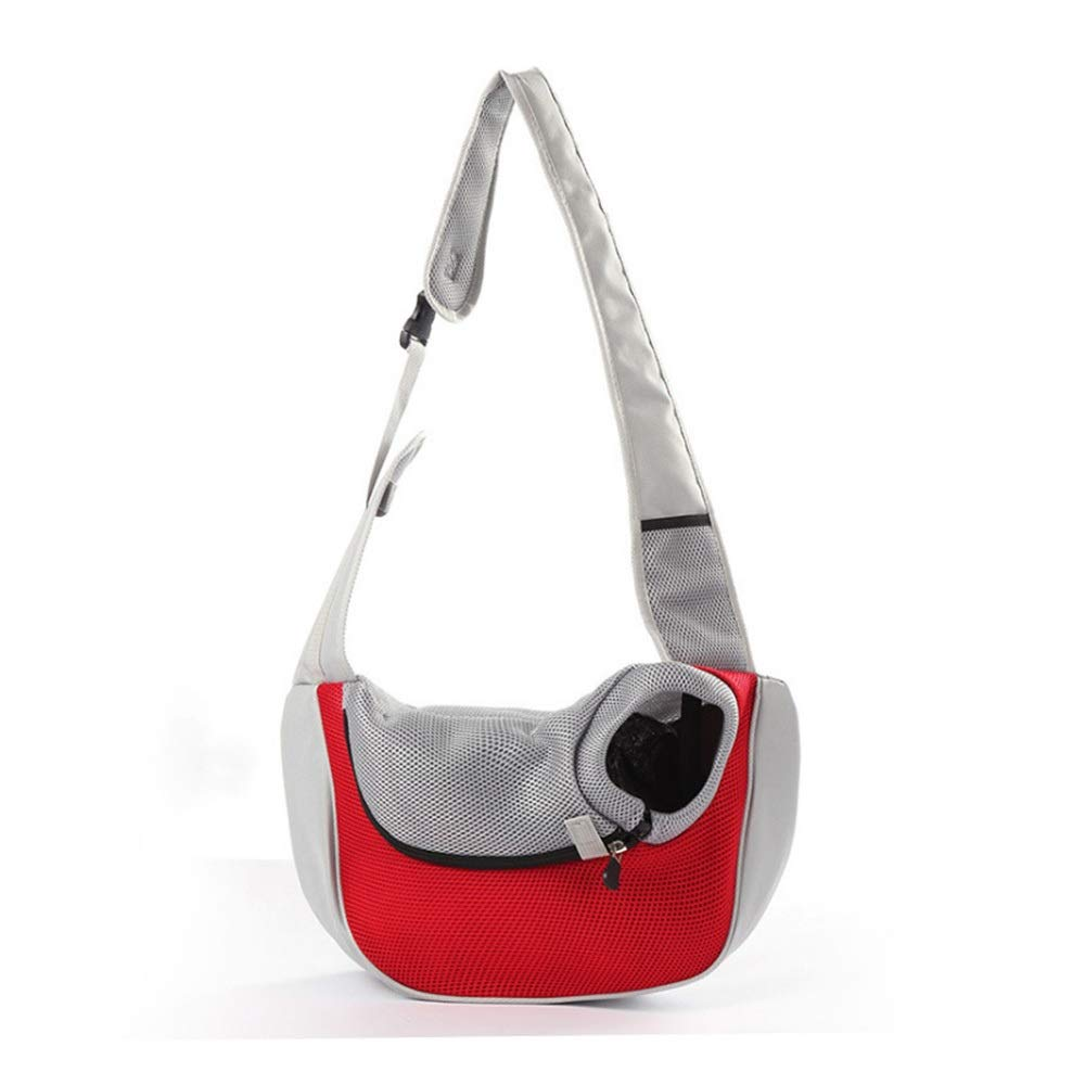 Red L Red L HYUE Pet Shoulder Bag Out Commodious Package Fashion Breathable Solidus Cat Bag (color   Red, Size   L)