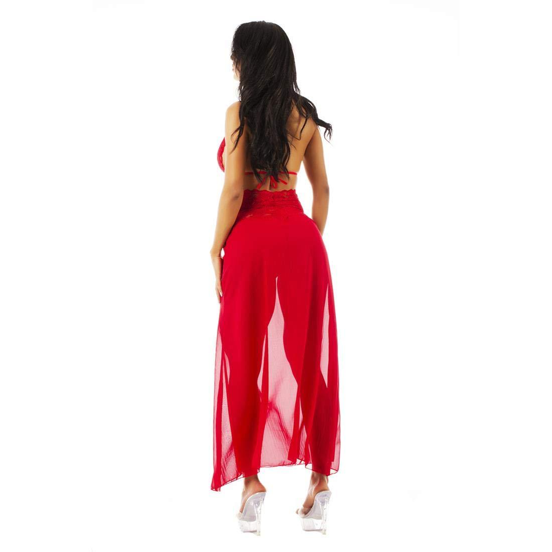 2dfa55552 Camisola Sensual Renda Longa Pimenta Sexy Vermelha - Camisola Sexy   Amazon.com.br  hpc