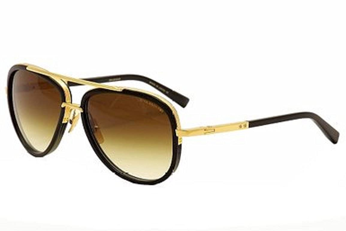 890df1c25bae Dita Mach Two Aviator DRX 2031 Sunglasses 18K Gold with Brown Lens   Amazon.co.uk  Clothing