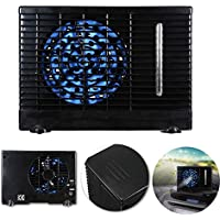 Uranny Car Cooling Air Fan, 12V Portable Universal Car Cooler Fan Water Ice Evaporative Air Conditioner Kit