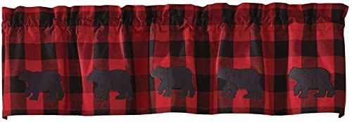 Park Designs Buffalo Check Bear Valance, 60 x 14