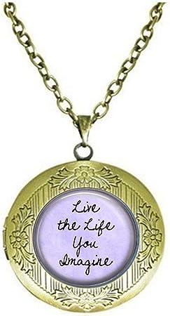 Citation Bijoux Live The Life You Imagine Positive Message