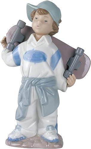 NAO Little Skateboarder. Porcelain Boy Figure.