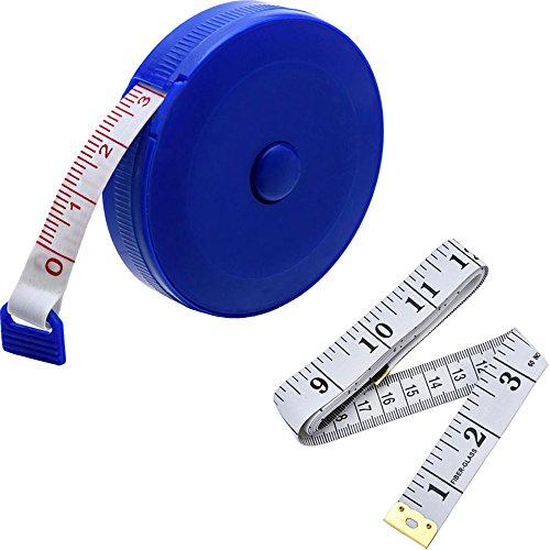eBoot 60-Inch 1.5 Meter Soft Tape Measure and Retractable Tape Measure Set (Plastic Tape Measure)