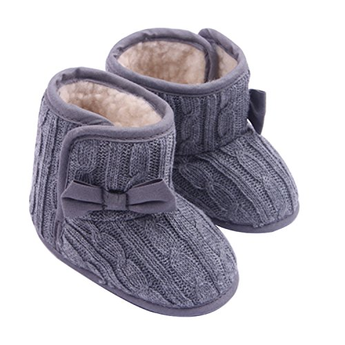 Baby Girl Soft Sole Anti Slip Prewalker Shoes Snow Boots With Bowknot (House Shoes Boots compare prices)