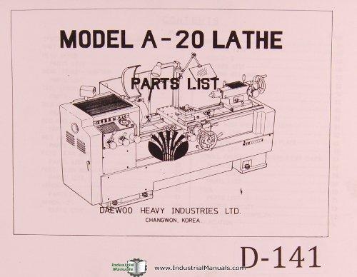 Daewoo Parts A-20 Lathe Manual