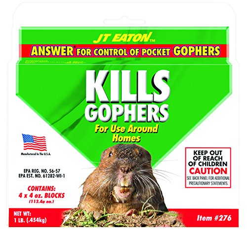 JT Eaton 276 Answer Pocket Gopher Bait Block and Control with Moisture Resistant Bait, 4 -