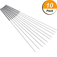 Hestya 10 Pack 0.4 mm Drill Bits for 3D Printer Nozzle Cleaning Kit Stainless Steel Nozzle Cleaning Tool Kit by Hestya