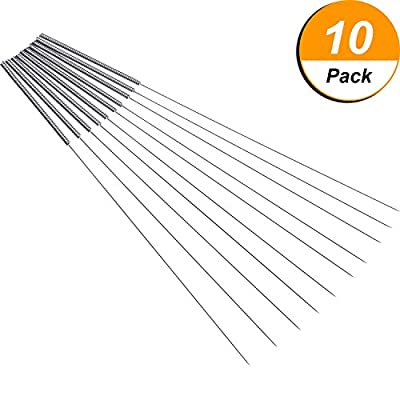 Hestya 10 Pack 0.4 mm Drill Bits for 3D Printer Nozzle Cleaning Kit Stainless Steel Nozzle Cleaning Tool Kit