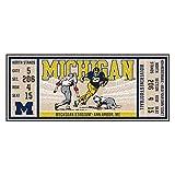 NCAA University of Michigan Wolverines Ticket Non-Skid Mat Area Rug Runner