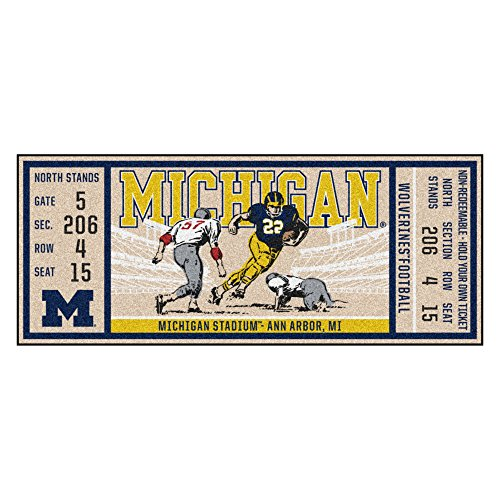 Price comparison product image FANMATS NCAA Michigan Wolverines University of Michiganticket Runner,  Team Color