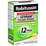 Robitussin Extended-Release 12 Hour Cough Relief (3 fl. oz. Bottle, Orange Flavor), Alcohol-free Cough Suppressant