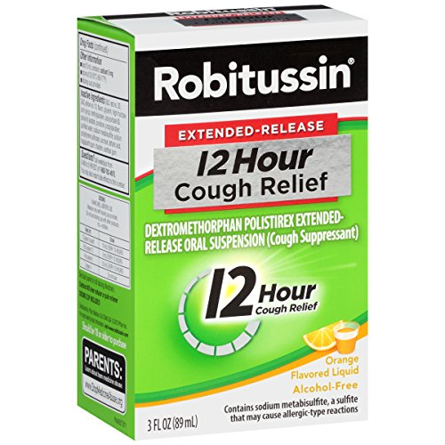 Robitussin Extended-Release 12-Hour Cough Suppressant (Orange Flavor Liquid, 3 fl. oz. Bottle)