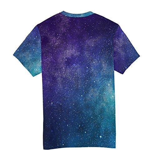 Universe Nebula Galaxy Alaza casual e manica corta Multicolor Colorful Man Maglietta Star Uv7CWaa
