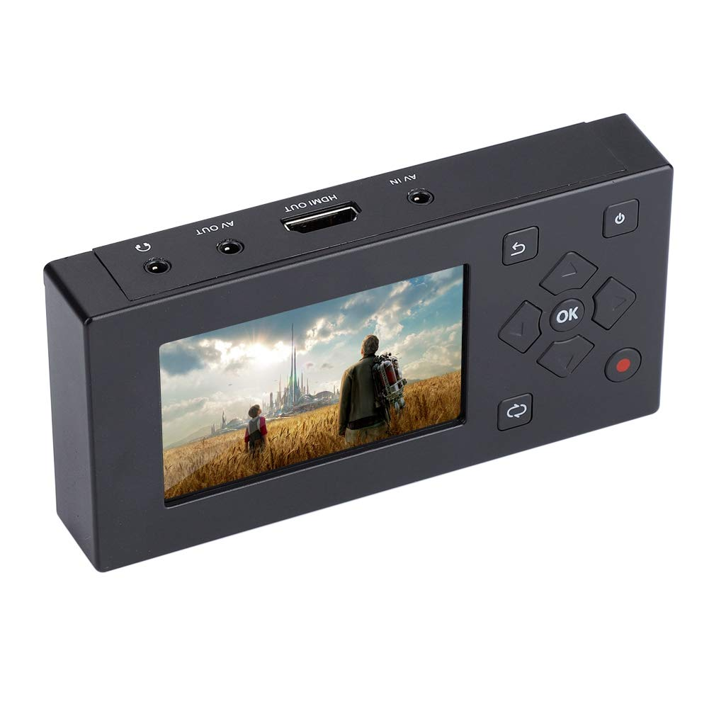 Video Recorder,ASHATA Portable 3'' TFT Screen AV Recorder,Audio and Video Recorder Converter Video Capture Recording Player with Real-time Video Watching Support SD Card by ASHATA