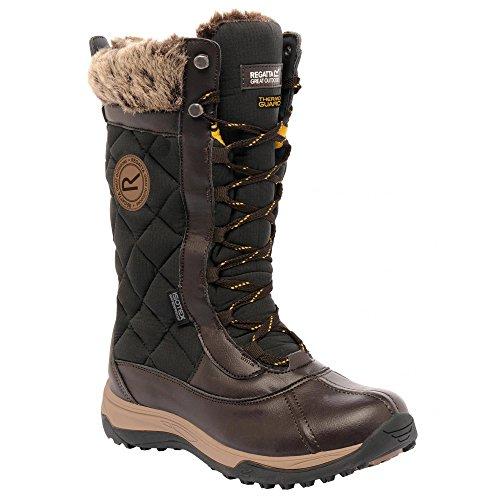 Regata Donna Glamara Walking Winter Boots Indian Castagna Marrone / Oro Antico