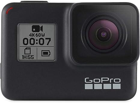 GoPro HERO7 Black Camera + Extra Rechargeable Battery + Lexar 128GB U3 microSDHC Card - Waterproof Digital Action Camera Touch Screen 4K HD Video 12MP ...
