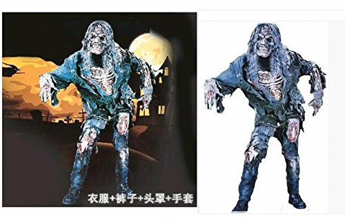 Meat Suit Costume (costumes Halloween ball dancing adult zombie fire corpse ghosts rotten meat zombie suit Photo Color all)