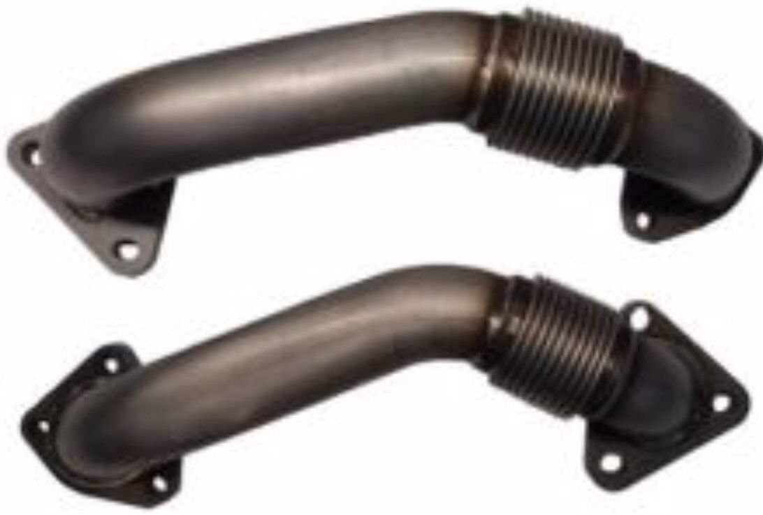 6.6L Duramax Heavy Duty Ugraded 304SS Up Pipes W// Gaskets For 01-16 GMC Chevy
