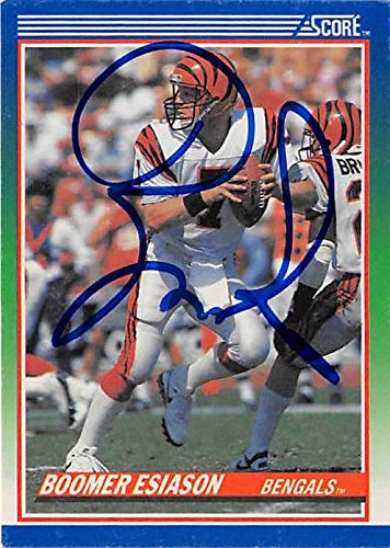 Boomer Esiason autographed Football Card (Cincinnati Bengals) 1990 Score - Bengals Card