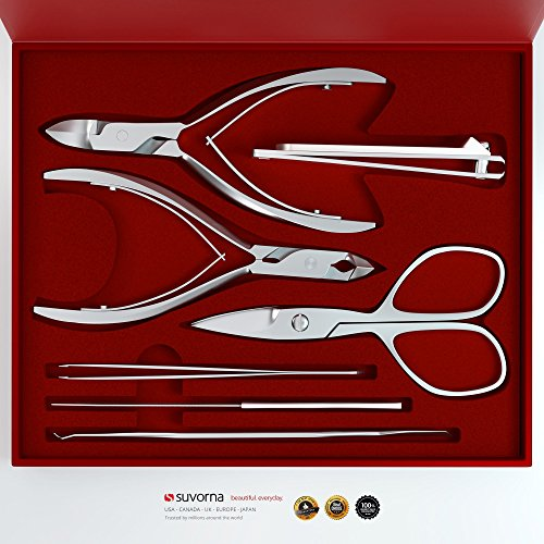 Suvorna Professional Manicure/Pedicure Kit (7 Pieces) Manipro M77, Polished Steel, 13.6 Ounce ()