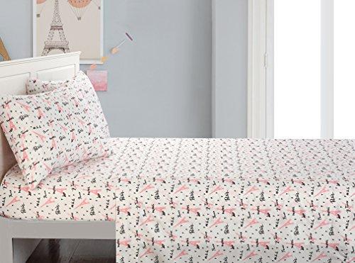 American Kids Bonjour Comforter Set, Full, Pink