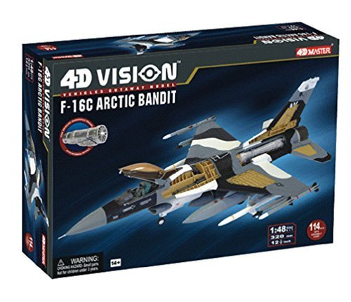 [Fame Master 4D Vision F-16C Arctic Bandit Model Kit, One Color] (Costumes F)