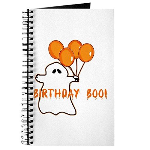 CafePress - Halloween Birthday Boo Journal - Spiral Bound Journal Notebook, Personal Diary, -