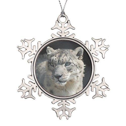 Cheyan Unique Designed Follies Christmas Snow Leopard Porcelain Hanging Ornament]()