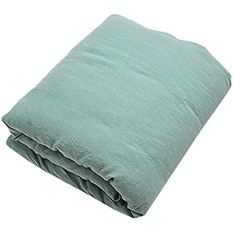 LinenMe Stone Washed Bed Linen Duvet Spa Green