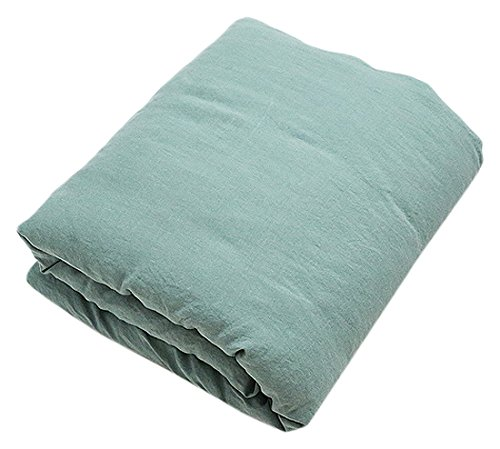 LinenMe Stone Washed Bed Linen Duvet, Spa Green