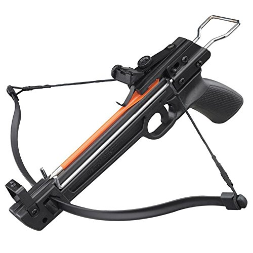 50lbs Pistol Fiberglass Crossbow With 5 Arrows Included